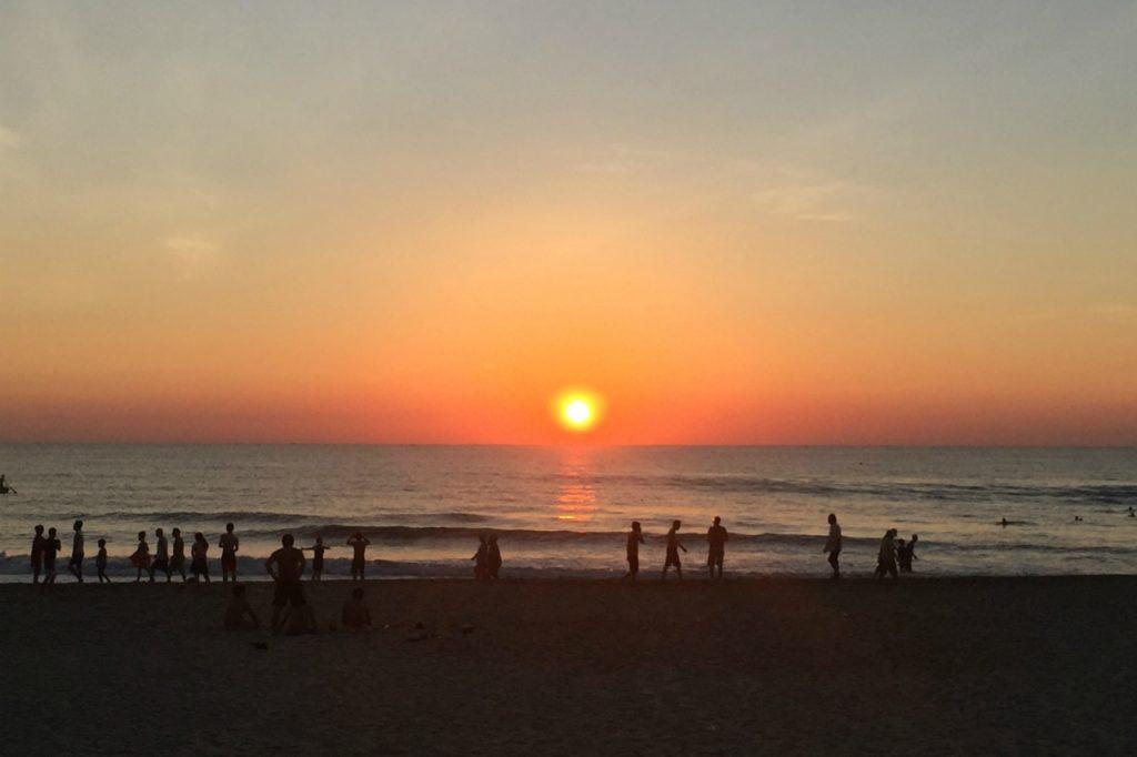 ミーケービーチの夕暮れ