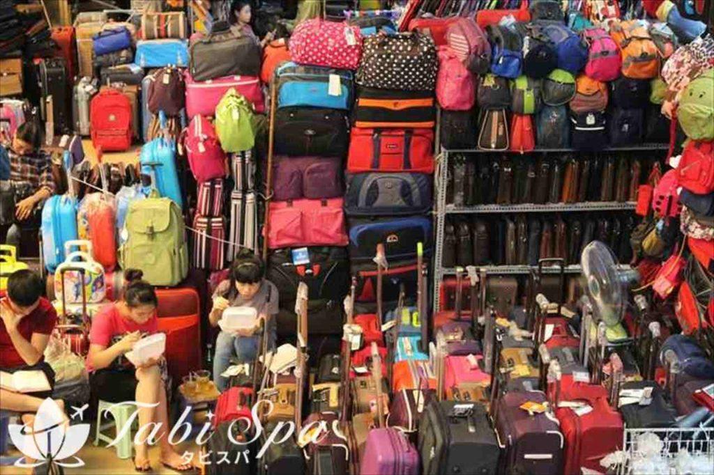 ドンスアン市場でよく見られる光景