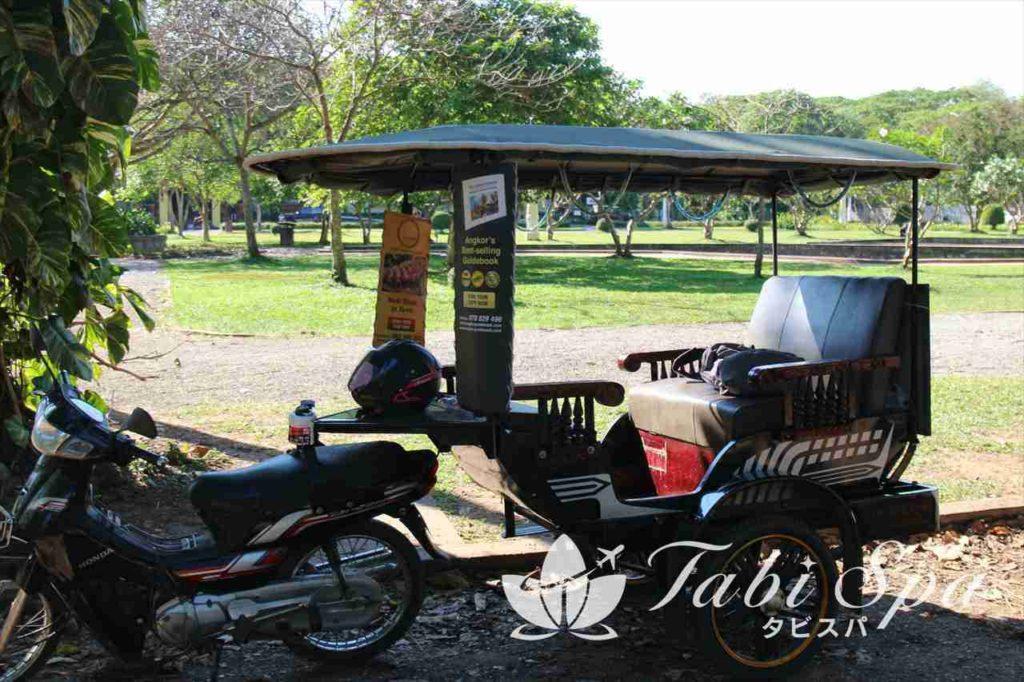 カンボジアのオートバイクタクシー