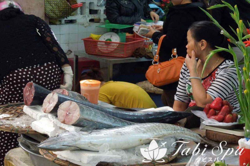 ハン市場の魚介売り場