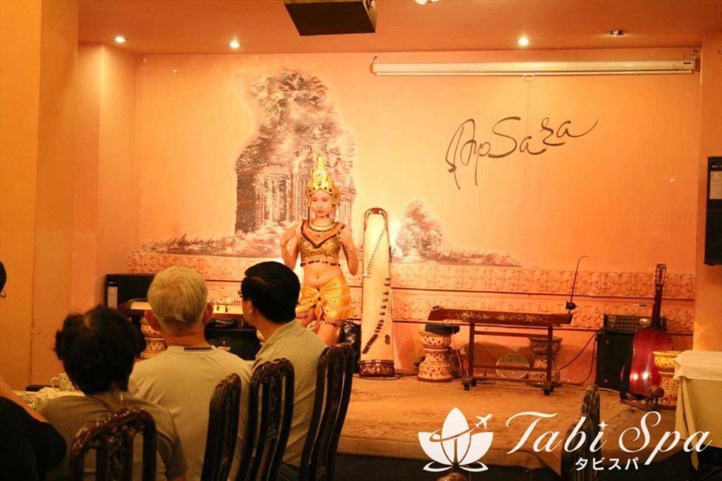 アプサラレストランの民族舞踊