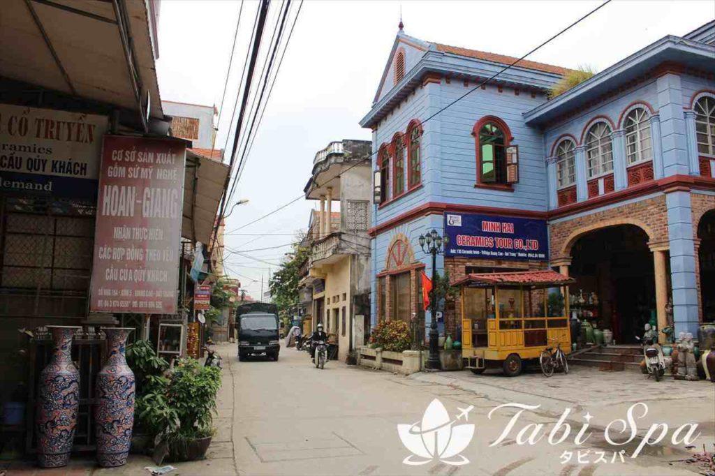 バッチャン村の町並み
