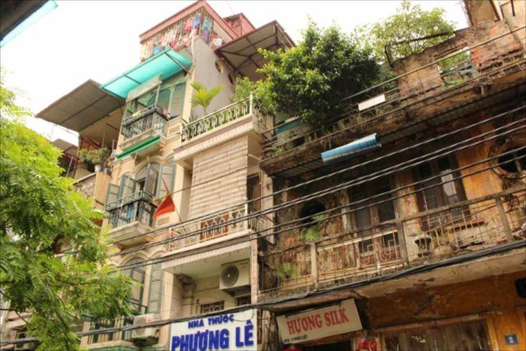 ハノイ旧市街の旧家