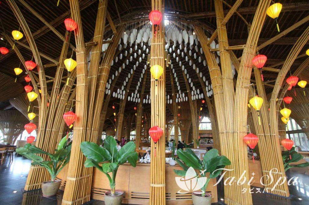 支柱がすべて竹