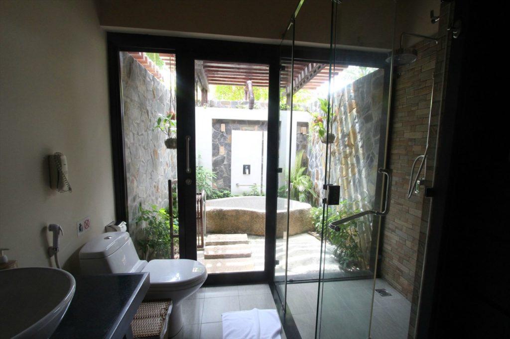 パンダナスリゾートのお風呂エリア