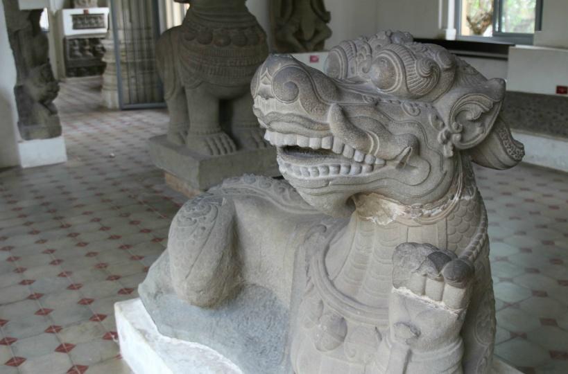 チャム彫刻博物館の展示品