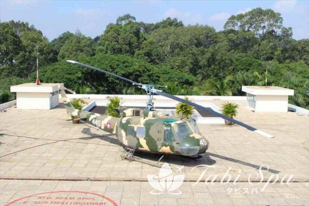 屋上のヘリコプター